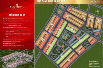 Mở bán đất dự án Yên Phong Bắc Ninh, giá chỉ 10,5 triệu/m2, sổ đỏ vĩnh viễn