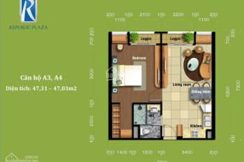 Chính chủ bán 1PN Republic Plaza, full nội thất, hướng Nam, view hồ bơi, tầng 10. LH: 0908982299