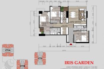 (Chính chủ cắt lỗ) nhượng lại căn hộ 4PN, 130m2 tòa I2 chung cư Iris Garden