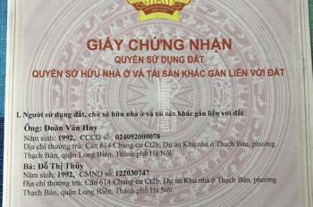 Chính chủ bán cắt lỗ căn hộ CT 2B Thạch Bàn, Long Biên, Hà Nội. LH: 0965320166