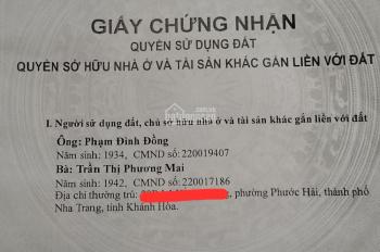 Bán nhà đất mặt tiền đường Lê Hồng Phong, phường Phước Hải, thành phố Nha Trang, tỉnh Khánh Hòa