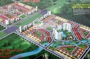 9,8tr/m2 bán đất dự án Cienco 5 Mê Linh, Hà Nội