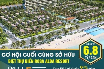 Biệt thự view 100% biển, giá chỉ 6.5 tỷ/220m2, tiềm năng sinh lời lớn, trung tâm TP. Tuy Hòa
