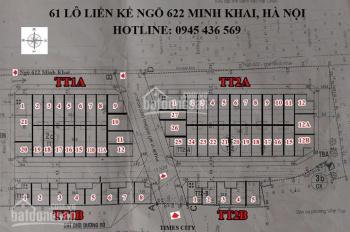 Bán nhà liền kề ngõ 622 Minh Khai, cổng Times City
