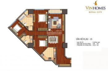 Bán căn hộ 3PN Royal City tầng cao tòa R1