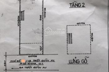 Nhà nát 4x15 hẻm 5m ra phố Tây Bùi Viện gần 1km