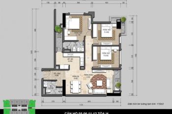Bán cắt lỗ CC Iris Garden, diện tích 102.9m2, tầng trung. Liên hệ chị Lê 0984957650