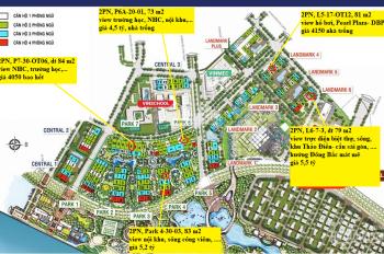 Bán gấp căn 2PN, 84m2, Park 7, Vinhomes Tân Cảng, thiết kế vuông vức, view tp thoáng, giá chỉ 4.1tỷ