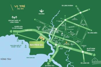 Bán đất thổ cư 100% mặt tiền Quốc Lộ 51 ngay cổng chào Cách chợ Bà Rịa 300m2 giá 8,9tr/m2