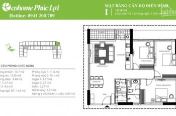 Bán cắt lỗ căn hộ 3 PN 102m2 - 107m2, hợp đồng trực tiếp, chiết khấu 180tr, miễn phí 2 năm dịch vụ