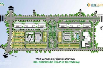 Shophouse Khai Sơn, hồ 20hecta tặng xe 1,5 tỷ, 8 SH, tặng heo vàng 50tr, DT 90m2, LH 0904615286