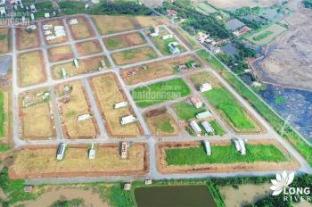 Bán đất 5x20m thổ cư MT Long Hậu 40m, CK cao, sổ riêng từng nền, VP bank 60%. LH: 0938477246