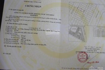 Bán đất phường Long Tâm, Thành Phố Bà Rịa, giá 1.6 tỷ