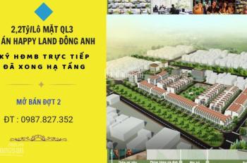 Bảng giá dự án khu nhà ở thương mại dịch vụ 1/5 Happy Land, Đông Anh - LH anh Sáng: 0987.827.352