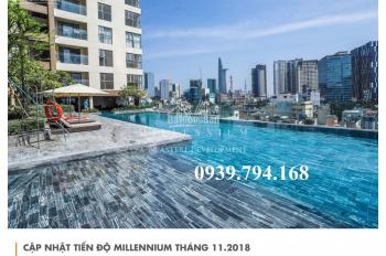 Căn hộ Millennium cho thuê, 2 phòng ngủ, giá thuê từ 25 tr/tháng. LH: 0939 794 168
