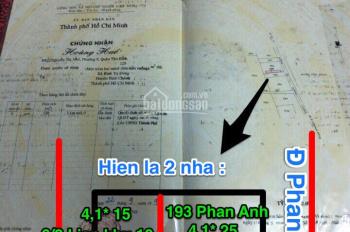 Bán 2 căn nhà mặt tiền 193 Phan Anh, Bình Tân: 13,5 tỷ (2 căn) 129m2 - chính chủ 0385913072