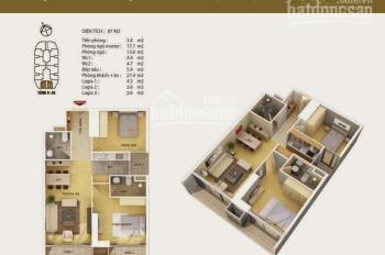 Chính chủ bán căn hộ số 1, 94m2, 2PN, nội thất hoàn thiện dự án Discovery Complex 302 Cầu Giấy