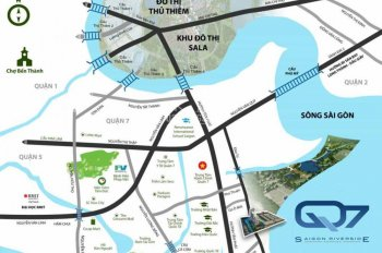 Kẹt tiền bán lỗ CH Q7 SaiGon Riverside LK Phú Mỹ Hưng 2PN DT 53-66m2 bán giá hợp đồng LH 0906360234