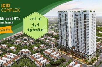 Bán gấp căn hộ 3 phòng ngủ: CT1 - 1208, giá 1.6 tỷ, ICID Complex. Hỗ trợ vay 70%
