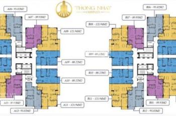 (0974547377 Dương) chính chủ bán gấp CC Thống Nhất Complex T1203A, 2PN, 88,22m2, giá bán 28.5 tr/m2
