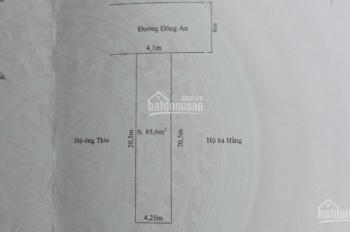 Bán lô đất mặt đường Đông An, Thành Tô, Hải An, Hải Phòng. DT 85,6m2