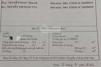 Nhà hẻm 3m, giá 2,6 tỷ, Cô Giang, Phú Nhuận