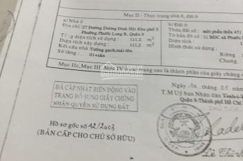 Bán nhà cấp 4 mặt tiền đường Dương Đình Hội, Phước Long B, quận 9, DT 7x16m =112m2, giá 12.5 tỷ