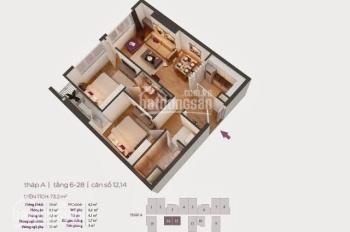Chính chủ cần bán căn hộ 73.2m2 giá 1,65 tỷ chung cư Hồ Gươm Plaza, SĐCC, LH 0389933863