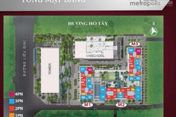 Chính chủ bán gấp căn hộ 3 phòng ngủ, Vinhomes Metropolis Liễu Giai, view 3 hồ, LH 0945575668