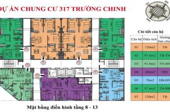Bán căn hộ đẳng cấp vị trí triệu USD tại chung cư 317 Trường Chinh, Thanh Xuân, Hà Nội