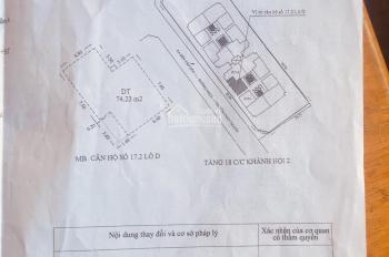Cần bán hai căn hộ chung cư, tầng 17 của Khánh Hội 2. Giá 2,7 và 2,85 tỷ (TL)