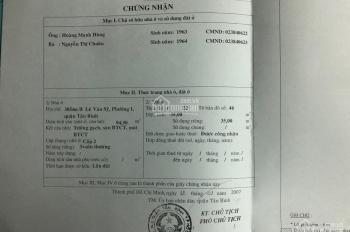 Bán nhà hẻm 305/46/8 Lê Văn Sỹ, Phường 1, Quận Tân Bình