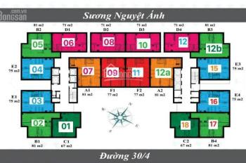 Bán căn hộ Diamond Sea (Lapen Center), 2PN diện tích từ 80.6 đến 89m2, LH: 0902 667 639