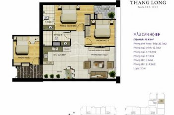 Cần bán gấp căn hộ Thăng Long Number One, DT 96m2, 3PN, giá 3,650 tỷ, lh 0334718888