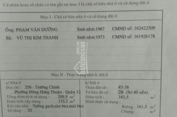 Bán nhà 256 Trường Chinh, Tân Hưng Thuận, Quận 12, DT 5,15x40m, giá 14.8 tỷ TL