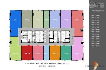 Bán căn văn phòng Gold Tower - 46.3m2 - 145m2 - Chỉ từ 35.79 tr/m2 - CK 6%: Mr Dũng 098.115.2882