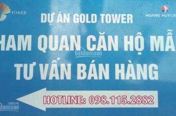 Mừng 8/3 Gold Tower CK 6-8% DT: 91.6m2 - 130.1m2, bàn giao quý 4/2019. CĐT: 098.115.2882 Mr Dũng