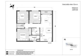 Duy nhất! Căn hộ 3 phòng ngủ khoảng tầng trung dự án Vinhomes New Center