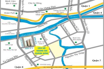 Bán chung cư Khang Gia Chánh Hưng quận 8, cách Phạm Hùng 500m. DT 60m2, 2PN giá 1,37 tỷ