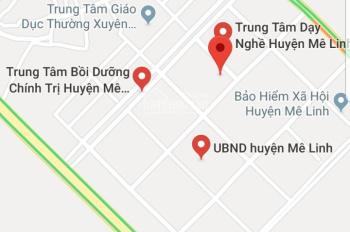 Bán mảnh đất đấu giá, tại khu TT hành chính huyện Mê Linh, Hà Nội, 82m2, giá 21tr/m2. 0985678276