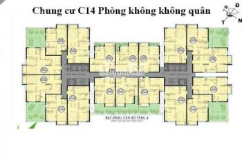 0905592288, bán gấp căn hộ DT 67,39m2 chung cư C14 Bộ Quốc Phòng, giá 19tr/m2, suất nội bộ