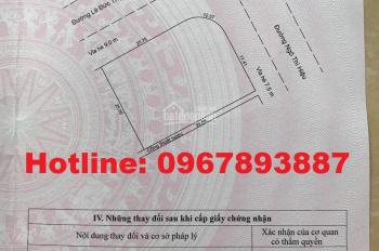 Cần bán nhanh lô đất 2 MT Lê Đức Thọ + Ngô Thị Hiệu cực đẹp, DT: 837m2, giá 40tr/m2. LH: 0967893887