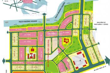 Cần bán lô góc biệt thự 3MT Cotec Phú Xuân dãy B4 Đ16m và Đ12m DT 438m2, giá 23tr/m2, 0933490505