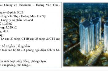 Mở bán chung cư Panorama Hoàng Văn Thụ, diện tích 45 - 64 - 74 - 77 - 107 - 117m2, đợt 1