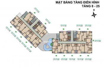 Chính chủ bán căn hộ chung cư 99 Trần Bình, Mỹ Đình, HN, 64m2
