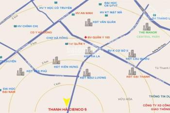 Chính chủ bán gấp lô đất góc vườn hoa B1.1 khu đô thị Thanh Hà, giá rẻ