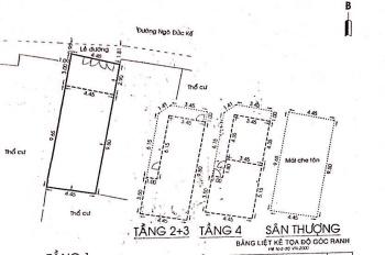 Bán nhà mặt tiền hẻm 34B Ngô Đức Kế, P12. DT 4,5x13m CN 56m2 1 trệt 4 lầu bán như bán đất: 7,8 tỷ