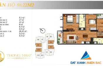 Chị Kim bán căn hộ chung cư Thống Nhất Complex 82 Nguyễn Tuân tầng 1503, giá 29 tr/m2: (0931296222)