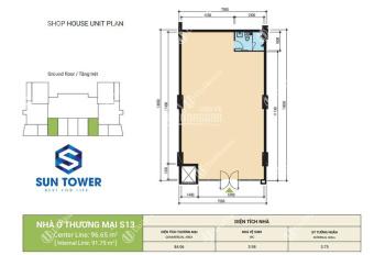 Tôi cần bán căn Shophouse Sky9 CT3, 97m2, sàn mặt tiền đường Võ Chí Công, giá 5.2 tỷ
