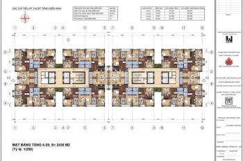 Bán căn 95m2, view hồ, tầng trung, chung cư Lạc Hồng 2 Ngoại Giao Đoàn, 35.5 tr/m2